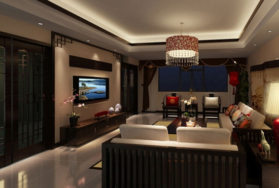 新中式瓷砖电视背景墙装修窍门