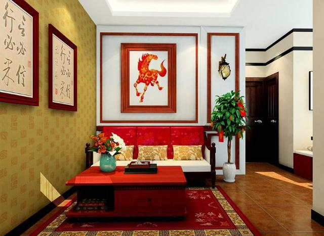 喜庆中国韵风格客餐厅
