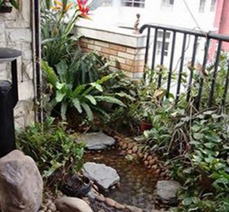 阳台鱼池设计效果图