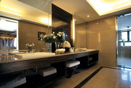 中式古典卫生间装修效果图