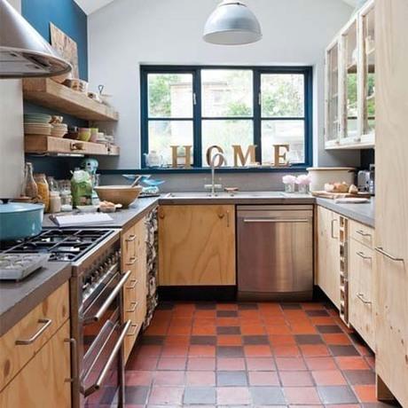 据说是使用效率最高的厨房布置设计