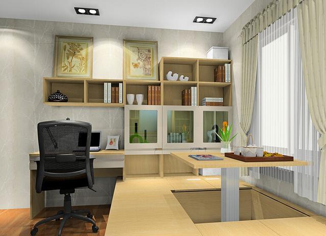 小书房巧妙多出8�O,一房五用全能空间装修法