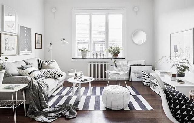 黑白灰三色打造36平米文艺小公寓
