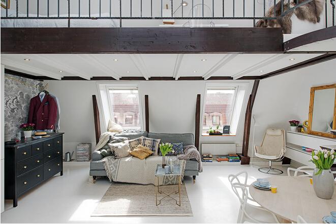 家太小?看国外设计师如何放大36平loft
