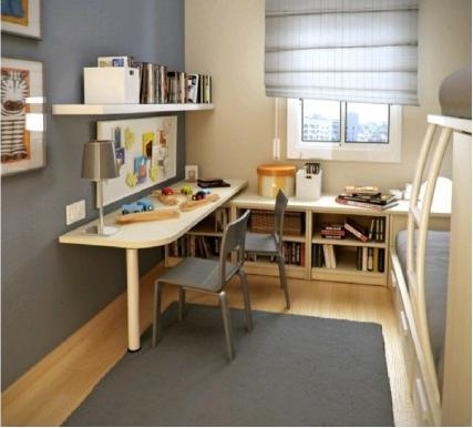 卧室里挤出工作室,小户型必备!