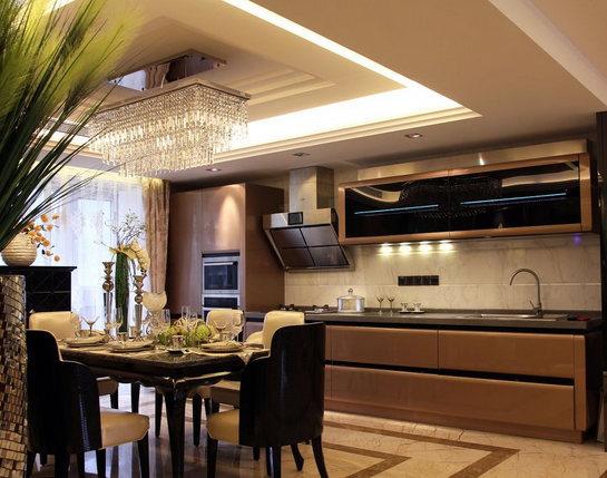 十款开放式厨房设计效果图 让做饭变得高尚起来