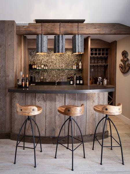 8款美式乡村风吧台设计 品味自然粗犷之美