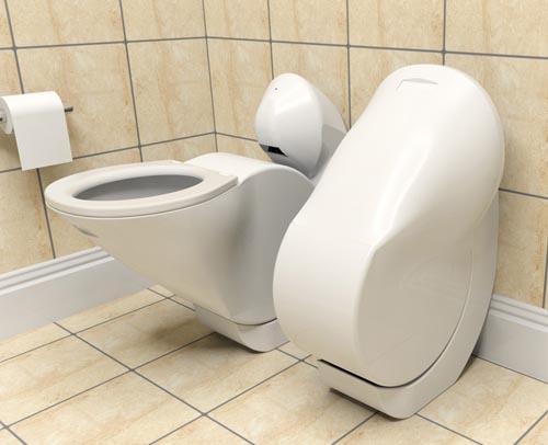 这个马桶能折叠?还能让人好好上厕所嘛!