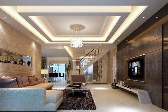 客厅吊顶高度多少合适 客厅吊顶效果图