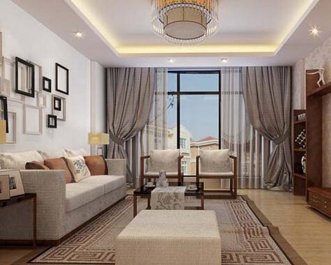 客厅装修效果图 窗帘的各种挂法