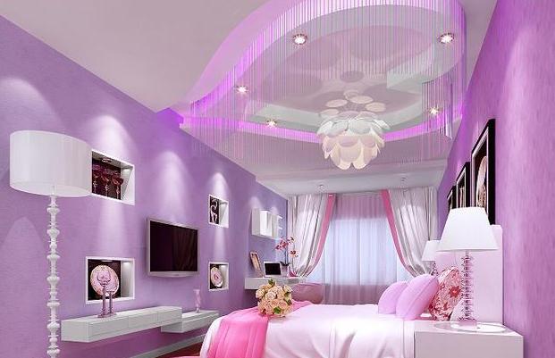 粉色系卧房  奇幻唯美的浪漫星屋