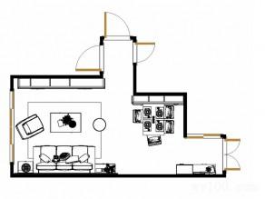 营造春天感的美式客餐厅 客厅装修效果图