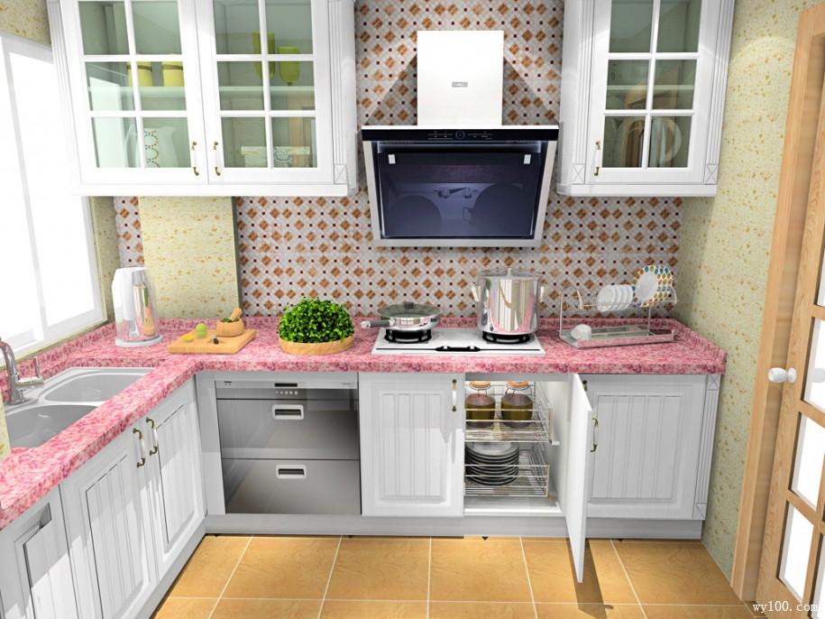 L型橱柜厨房装修设计 厨房装修