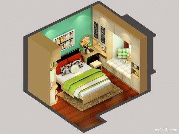清爽明亮卧室 卧室装修效果图