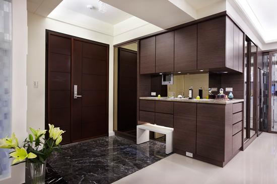 现代简约风格装修,现代简约风格案例,大户型装修,大户型案例,玄关设计