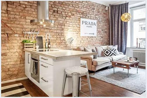 就喜欢怀旧前卫新潮范儿,家居中的砖墙情结