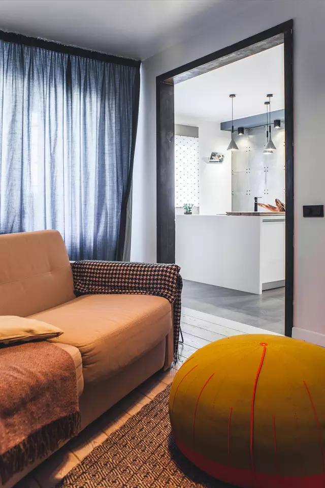 100平米基辅光感公寓,充满了设计师对细节和个性的追求