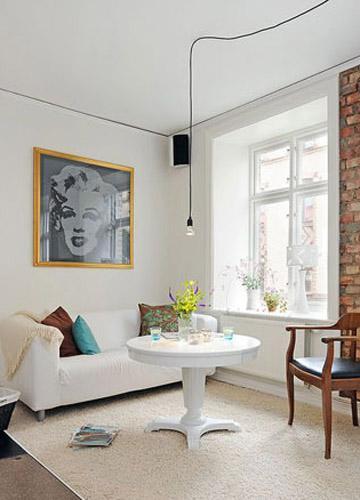 94平简约风格家装,白色的简单纯净演绎出经典风范!