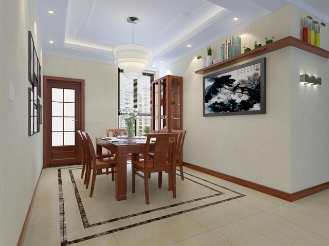 现代与中式完美结合的四居室!