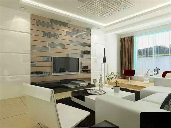 我想拥有!现代简约客厅电视背景墙装修效果图大全