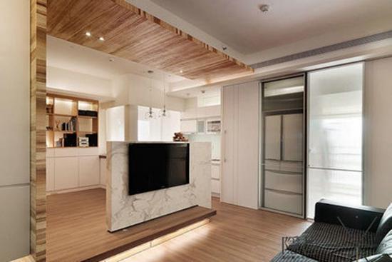 小户型装修需要 隔断电视背景墙设计