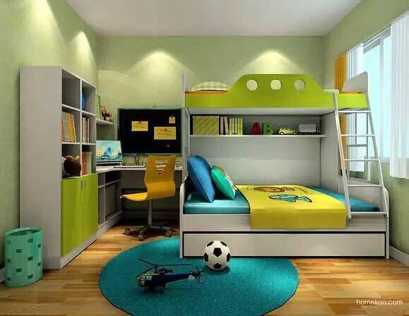 儿童房设计欢乐多 上下床还能这样玩!