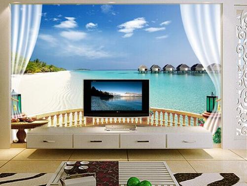 3D客厅电视机背景墙图片 栩栩如生的视觉效果