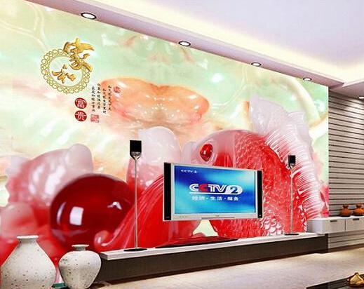 雍容华贵,玉雕客厅电视机背景墙图片欣赏