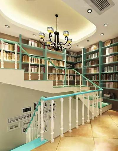 开放式书房装修效果图