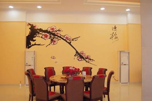 餐厅手绘艺术背景墙