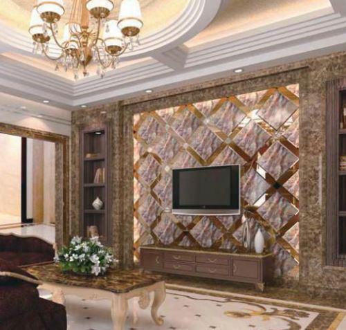 中式客厅电视背景墙-维意定制家具商城