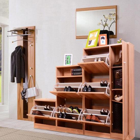 超级实用的中式鞋柜效果图令女人爱不释手!