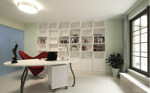 晒书房设计效果图 书房布置