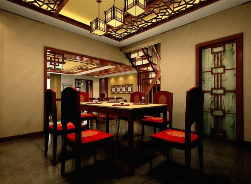中式餐厅效果图 中式餐厅风水