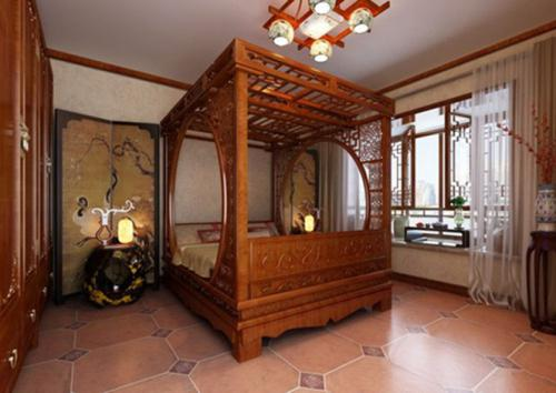 长辈最爱的中式卧室装修风格效果图