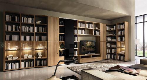 客厅家用书柜效果图