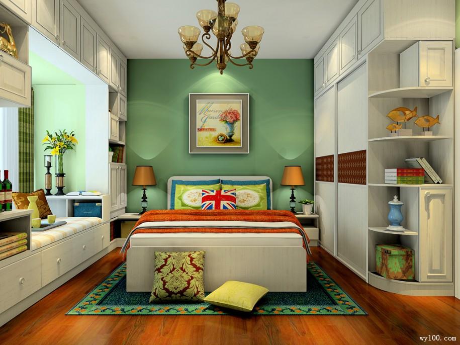 经典飘窗卧房 11�O卧室装修效果图