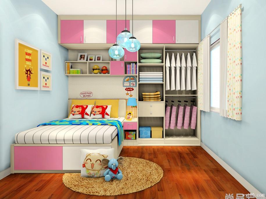 10�O儿童房效果图 兼顾孩子学习与休息的小天地
