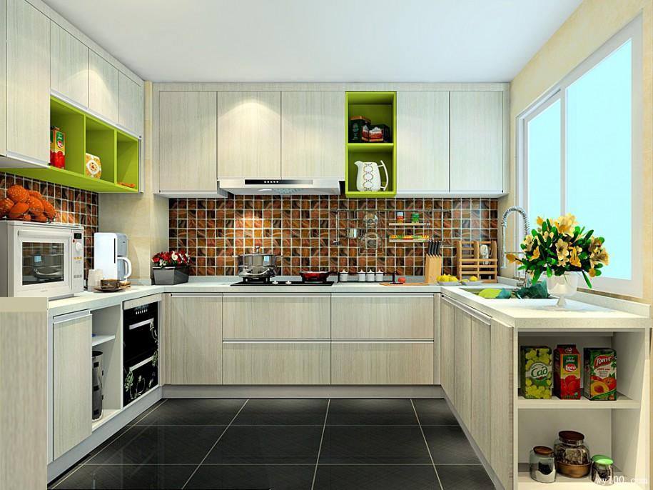 多样化功能厨房效果图 橱柜组合
