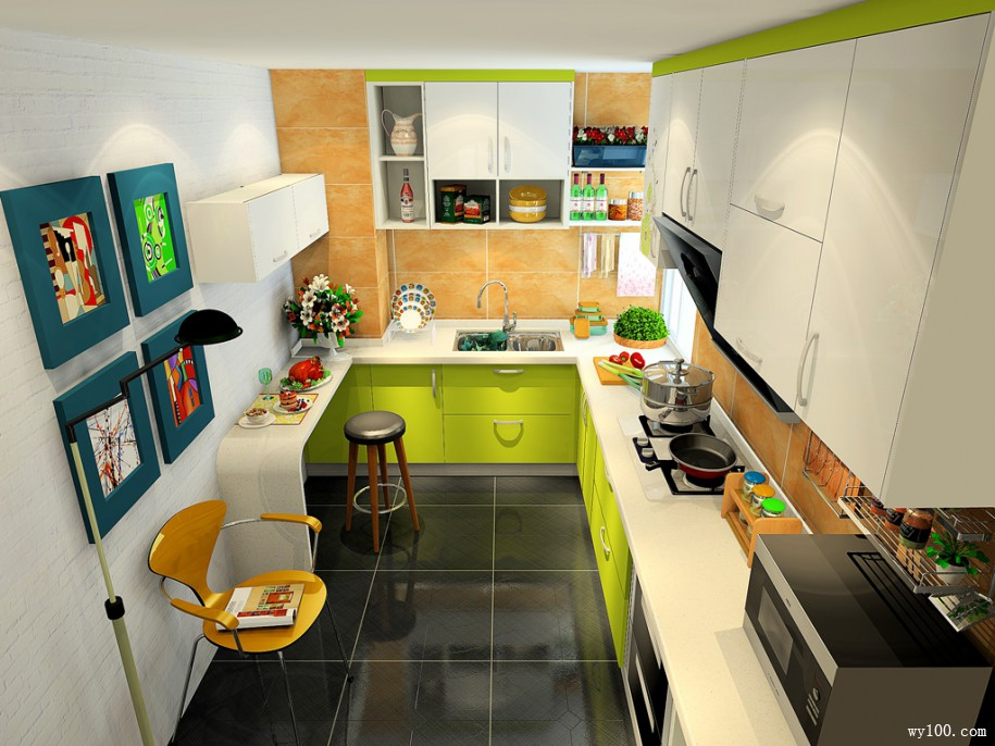7�O厨房装修效果图 帮你安心等待美味出炉