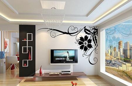 如何根据电视墙效果图装修电视墙