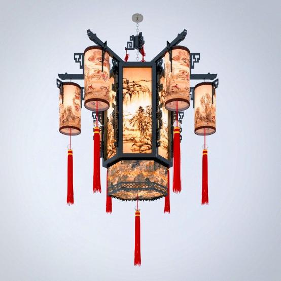 传统韵味的中式吊灯