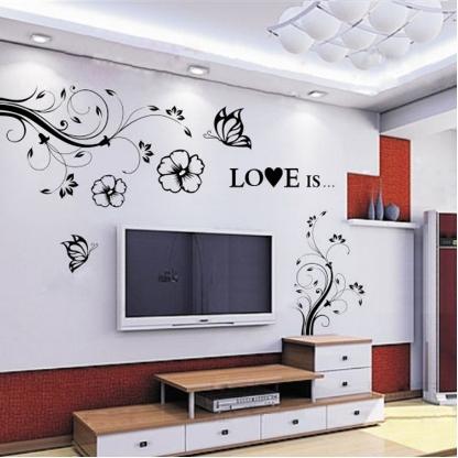 电视墙墙贴装点环境,打造不同
