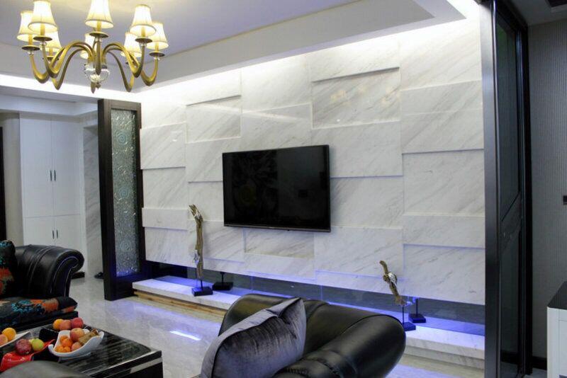 风格迥异的电视机背景墙效果图