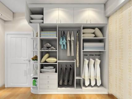 家装衣柜内部效果图的介绍
