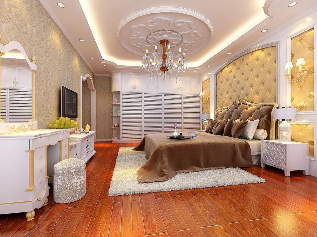风格各样的欧式卧室装修效果图