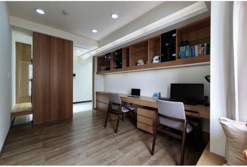 书桌书柜组合效果图中的设计观点