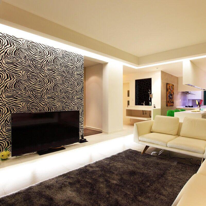 简洁大方的现代风格客厅效果图