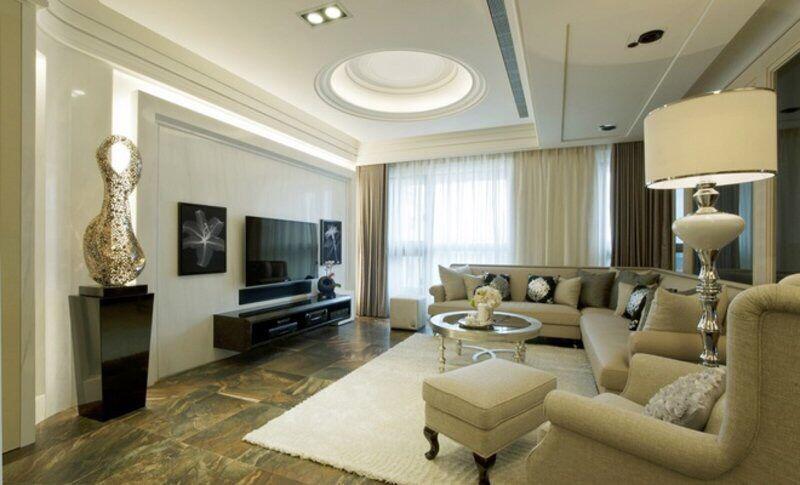 不同风格客厅电视背景墙效果图