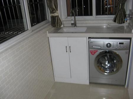 好看的阳台洗衣机装修效果图